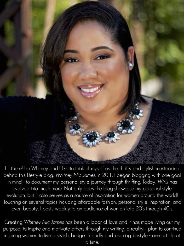 LifeStyle Blogger - Whitney Nic James Bio