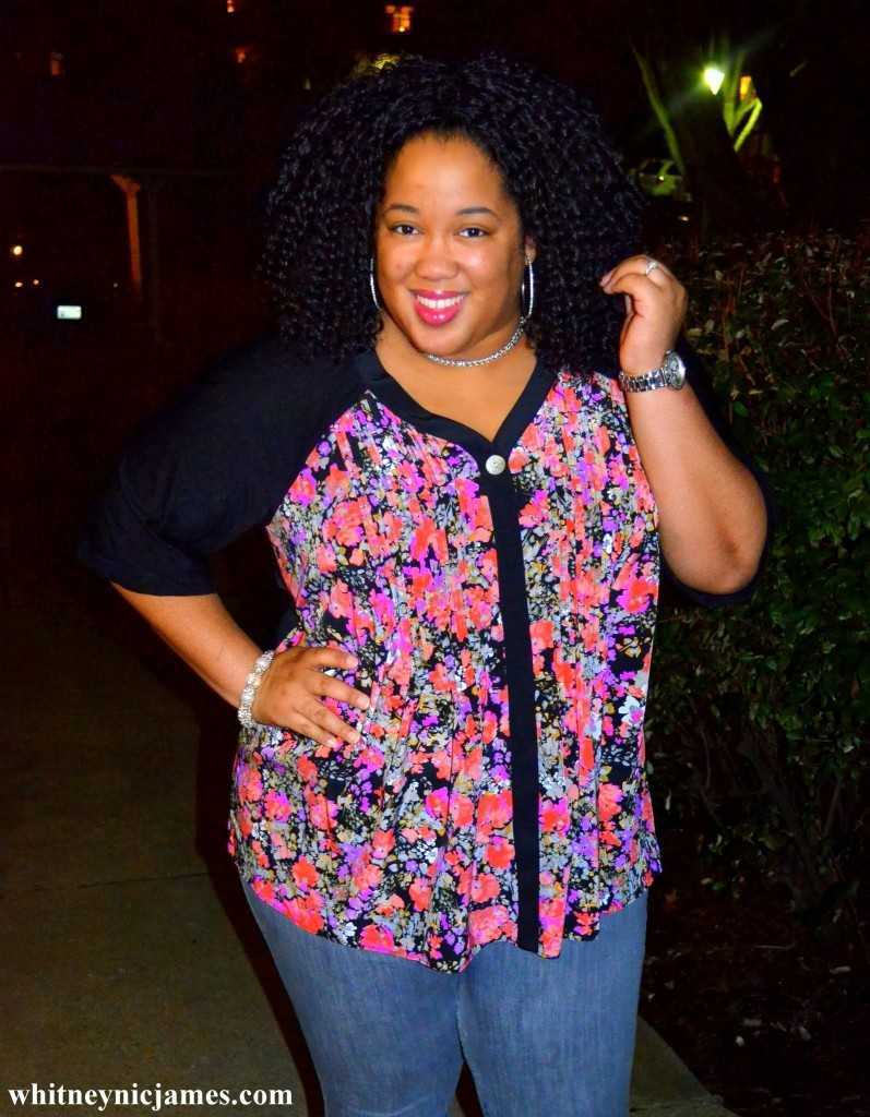 plus-size-floral-top