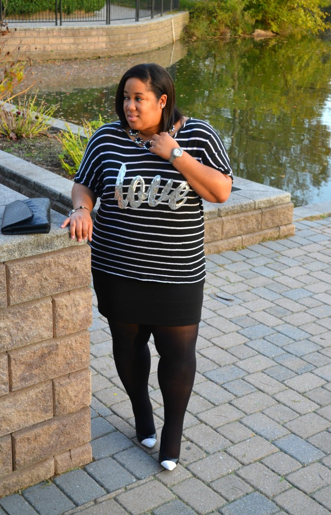 Black and White OOTD - Hanes Hosiery