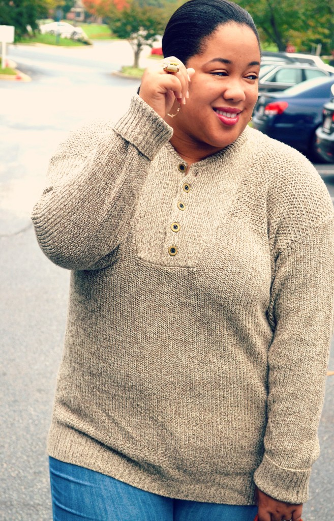 thrifted sweater - thrifty fashion