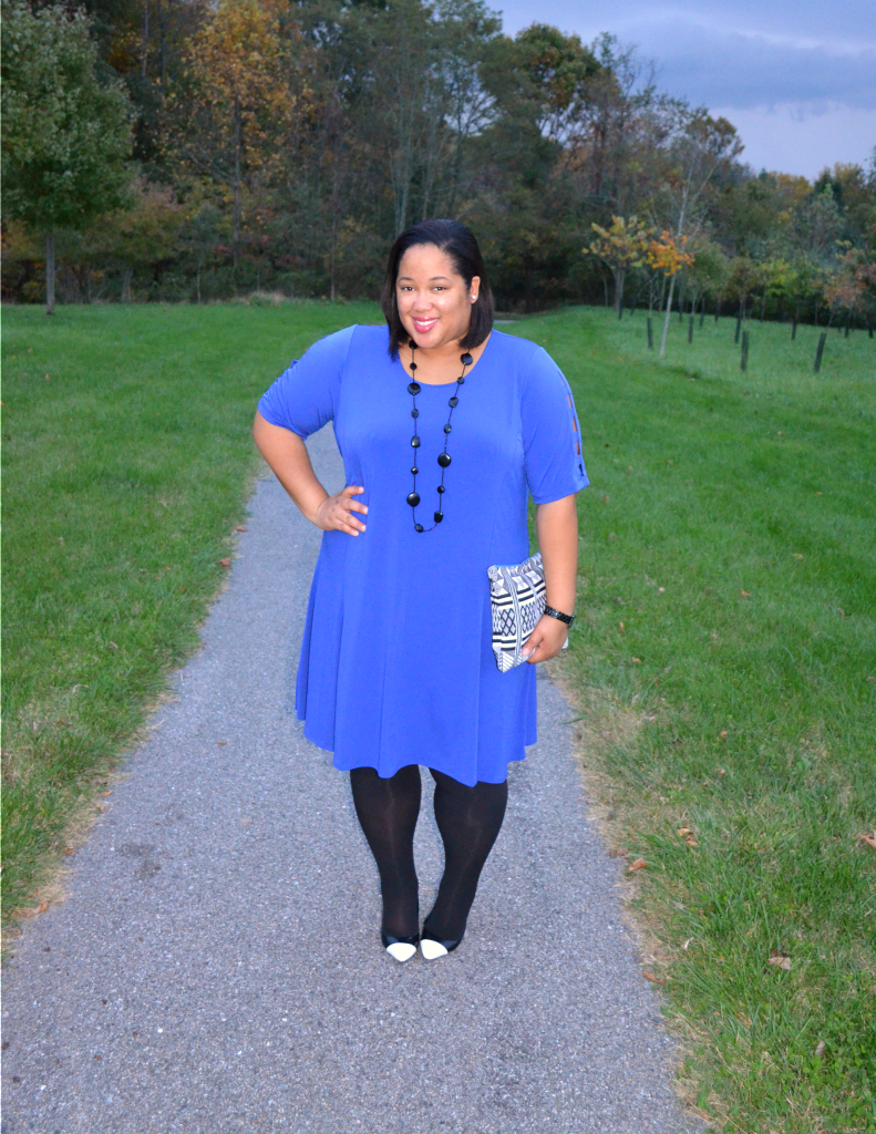 Blue Dress - Plus Size Fall Fashion