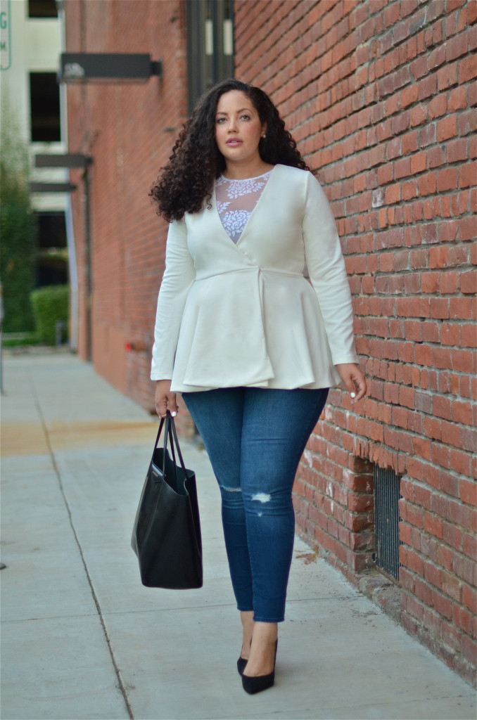 Girl With Curves - Frill Hem Blazer
