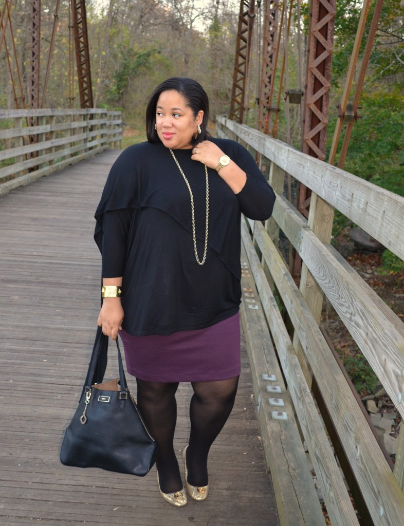 Skirts and Tights - Plus Size Fall Fashion