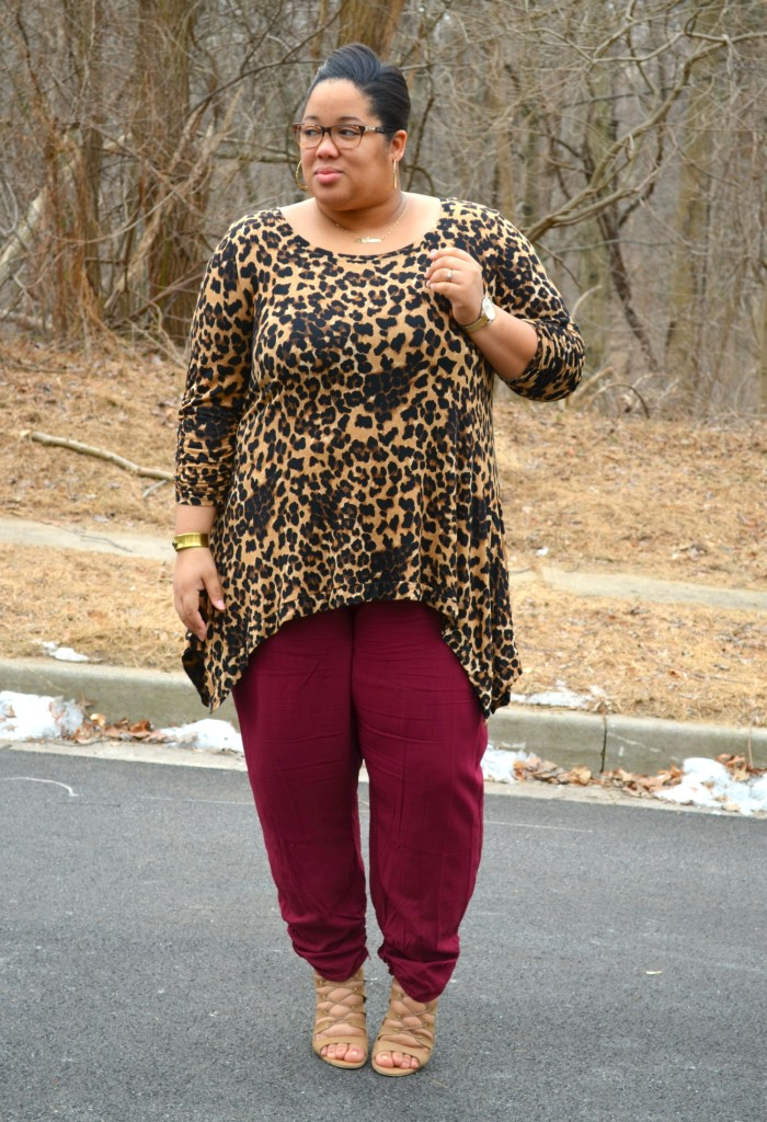 Leopard Print Blouse - Plus Size OOTD