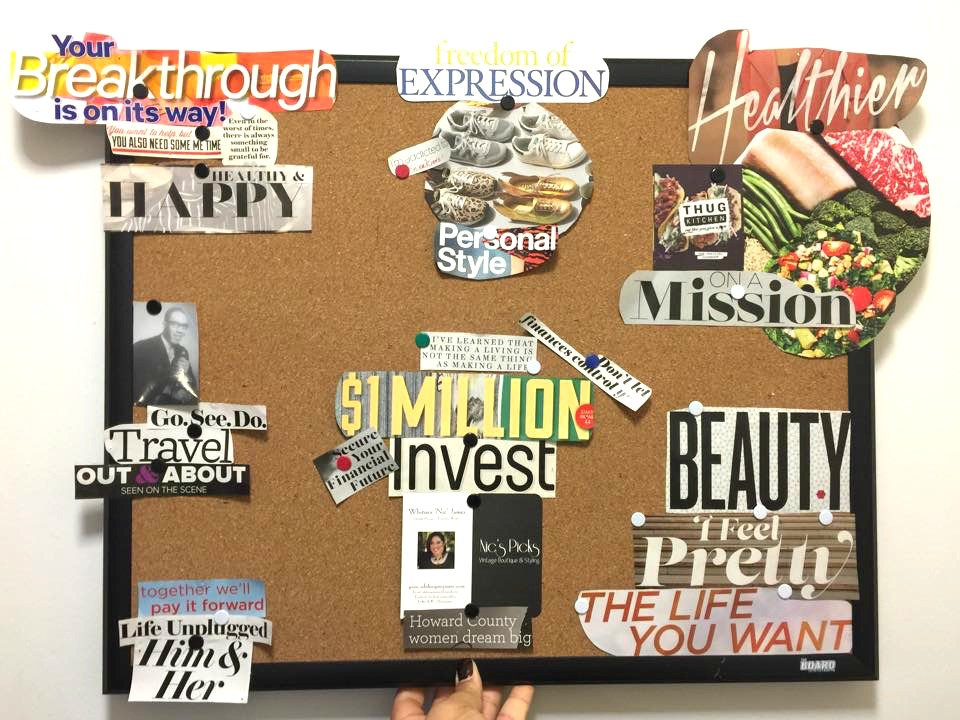 Vision board archives whitney nic james for Home design vision board