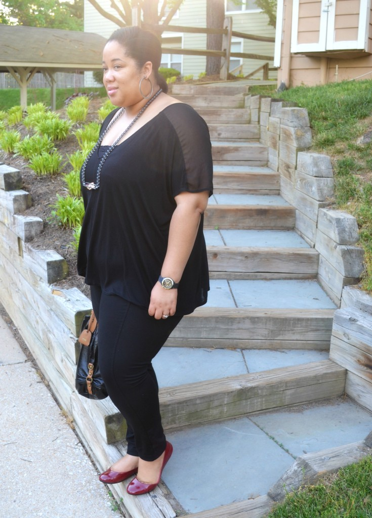 Plus Size Spring Outfit - All Black