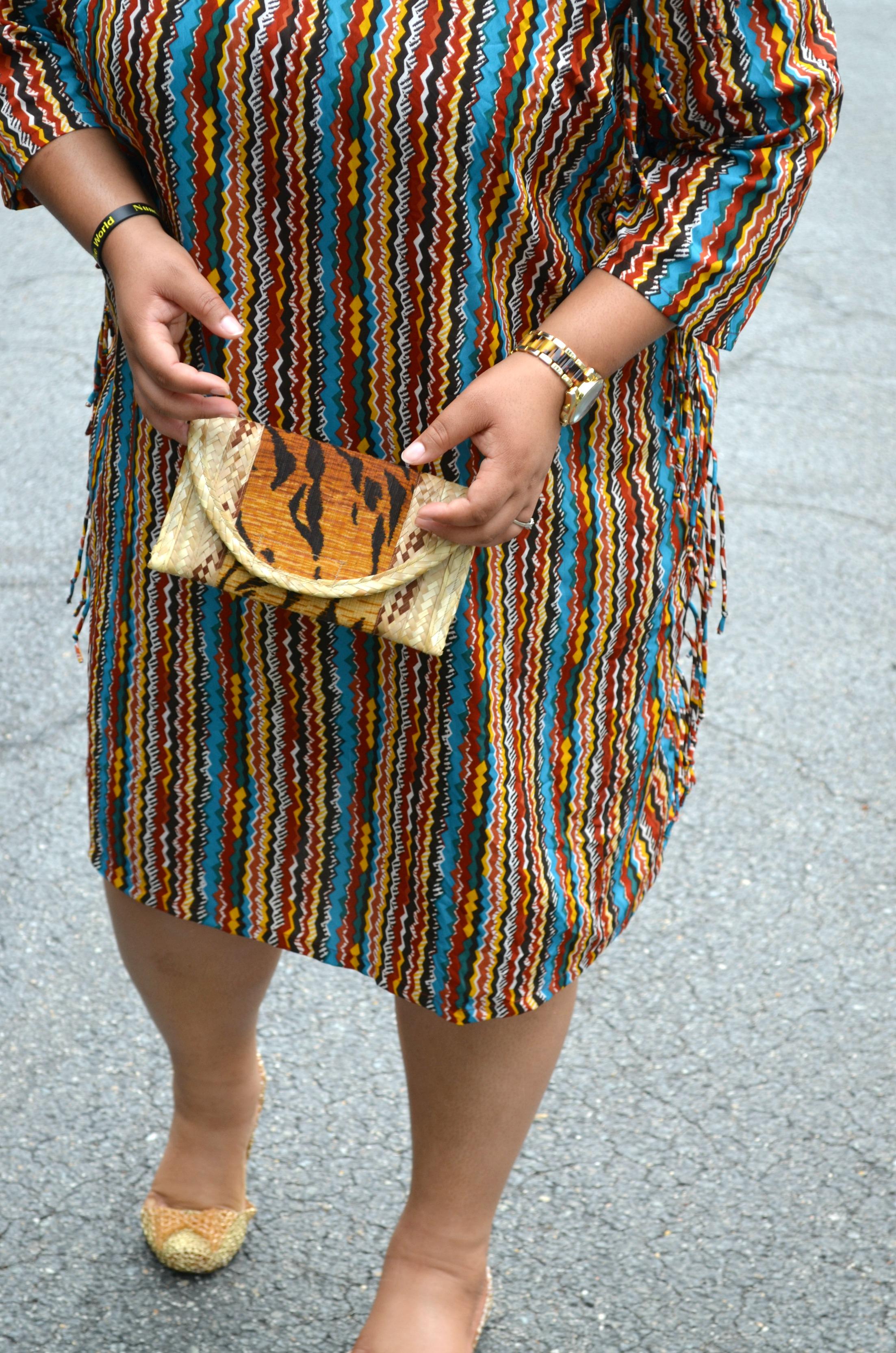 thrifted dress - details