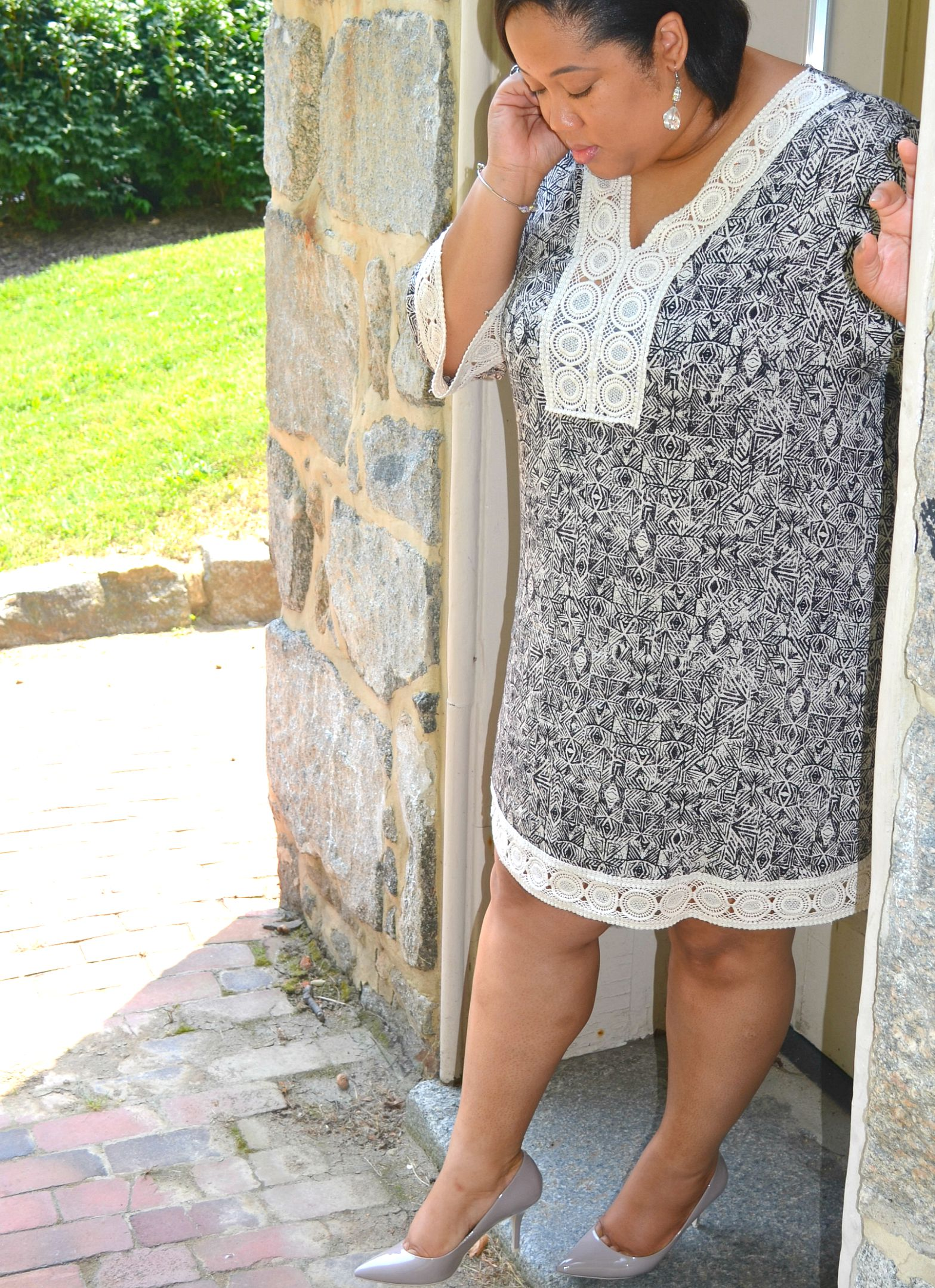 Details - Black and White Tunic