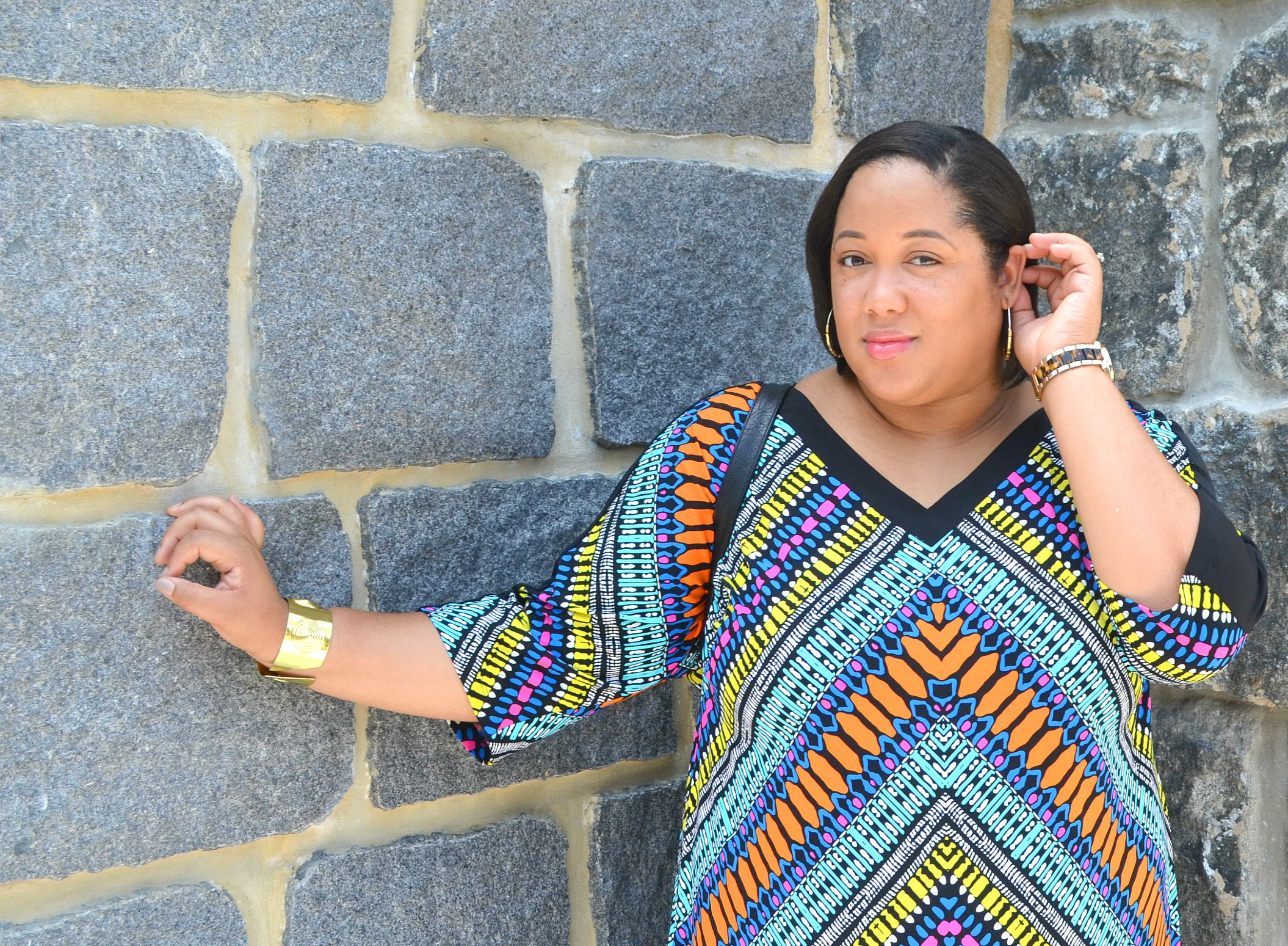 Up Close - Plus Size Shift Dress