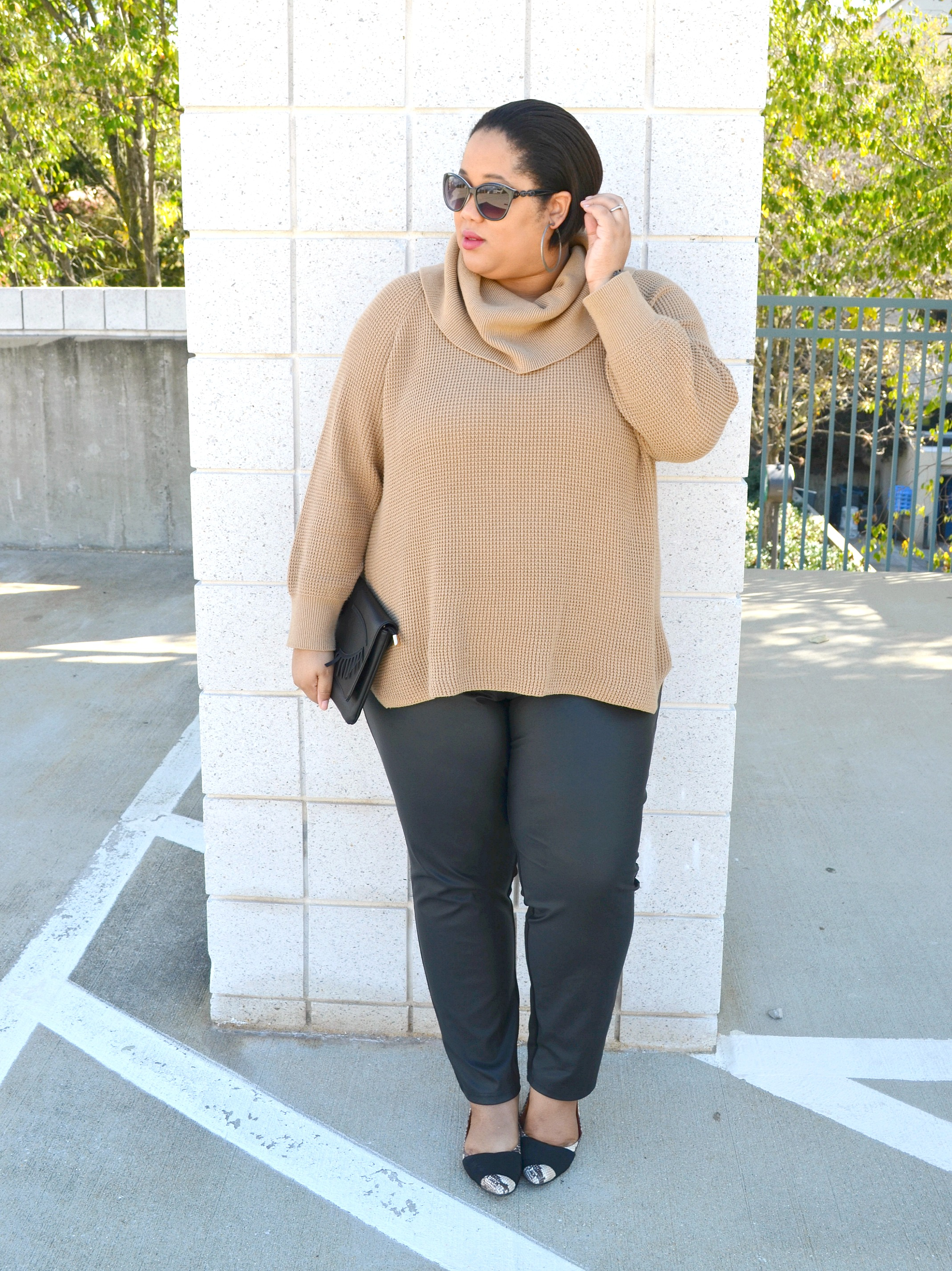 Chunky Sweaters and Leggings OOTD
