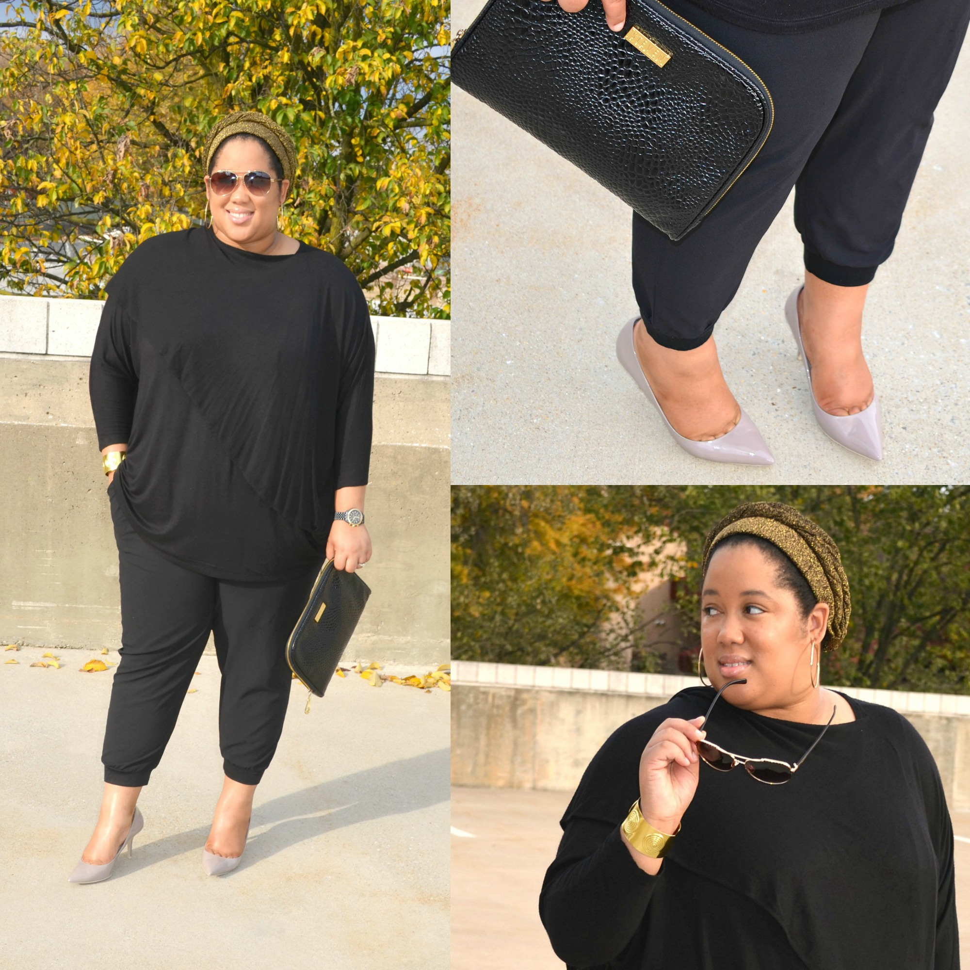 Details - All Black Outfit