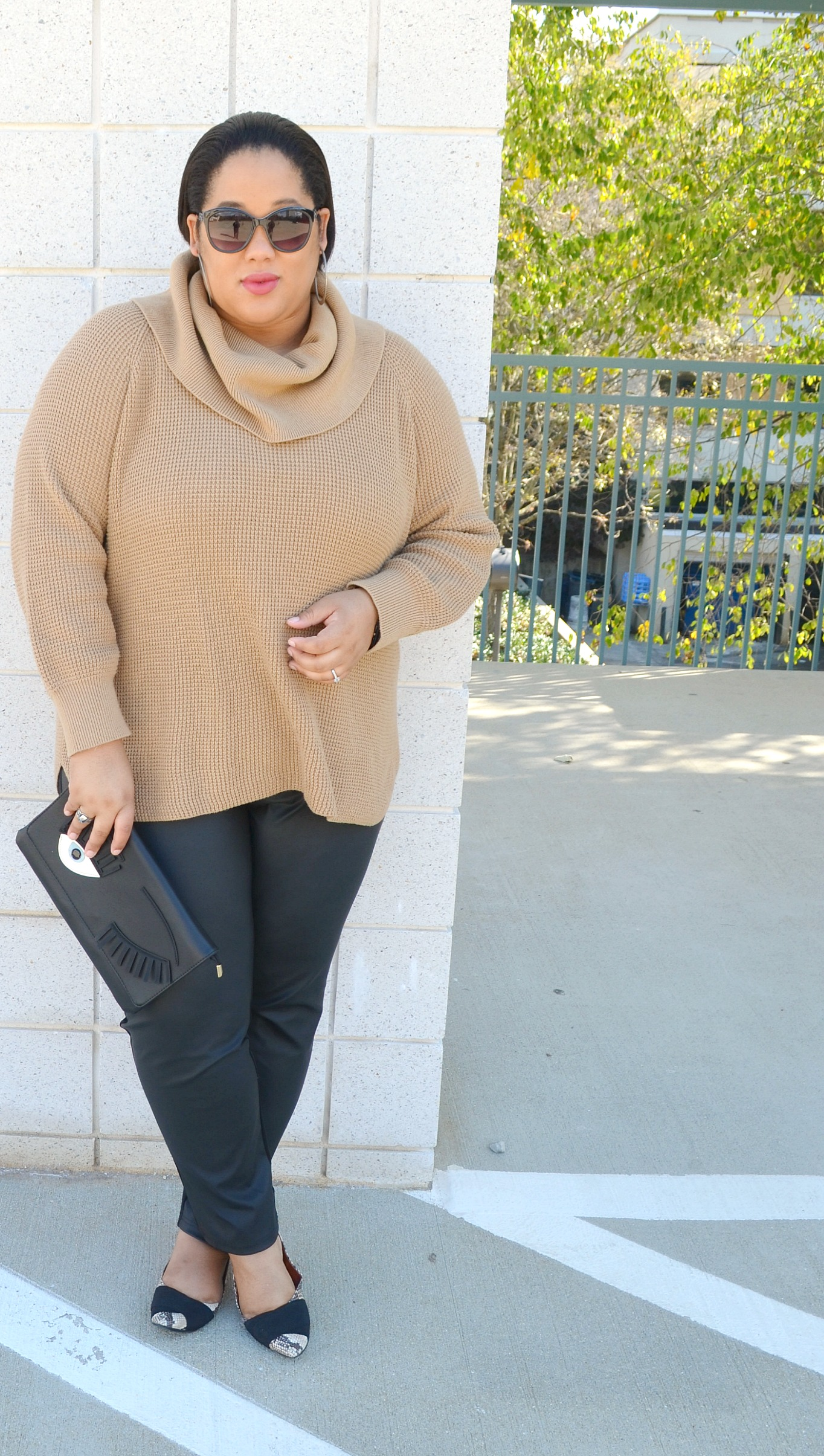 Fall Style - Chunky Sweaters and Leggings