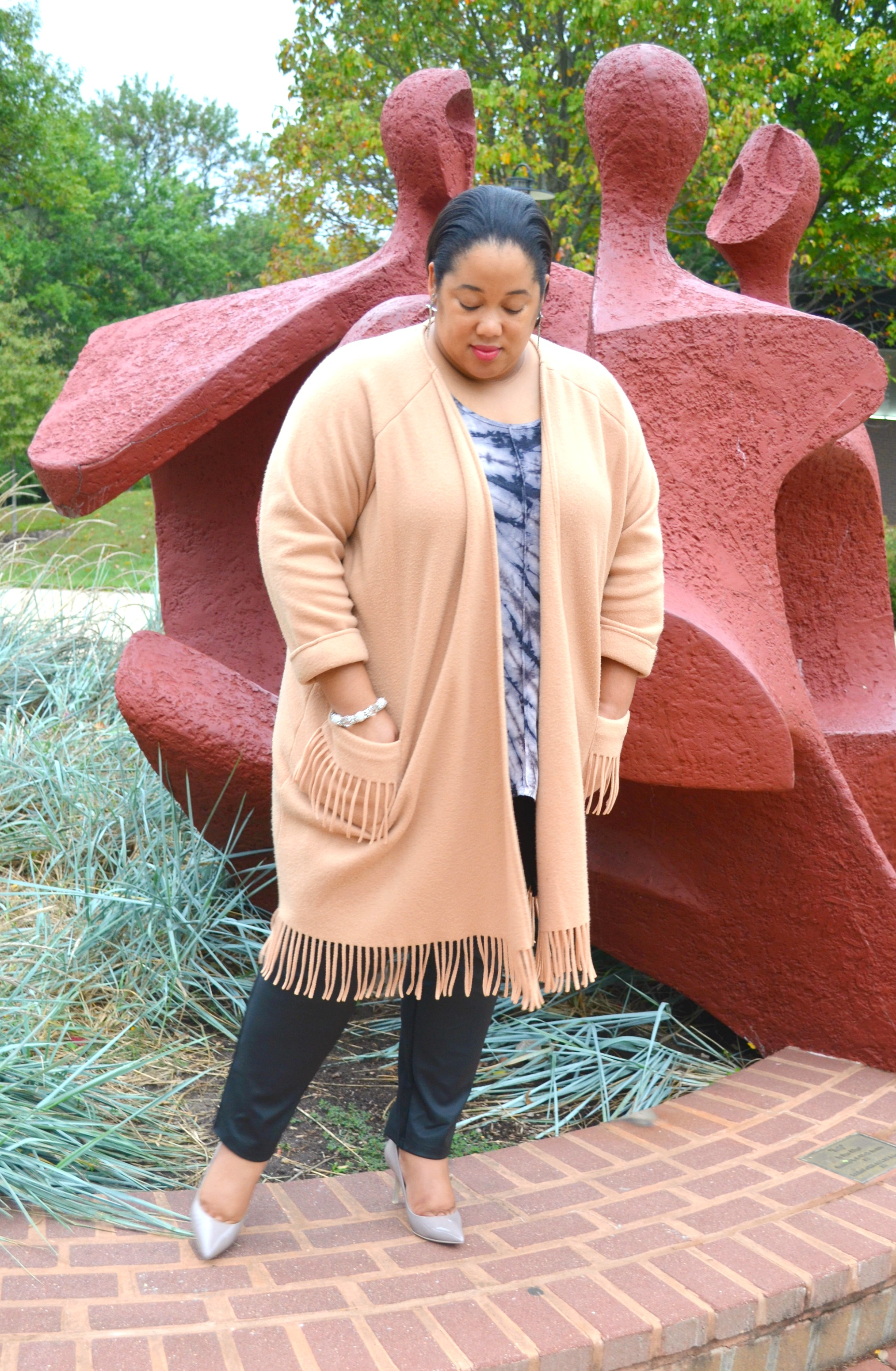 Thrifted Coat - Fringe Trend