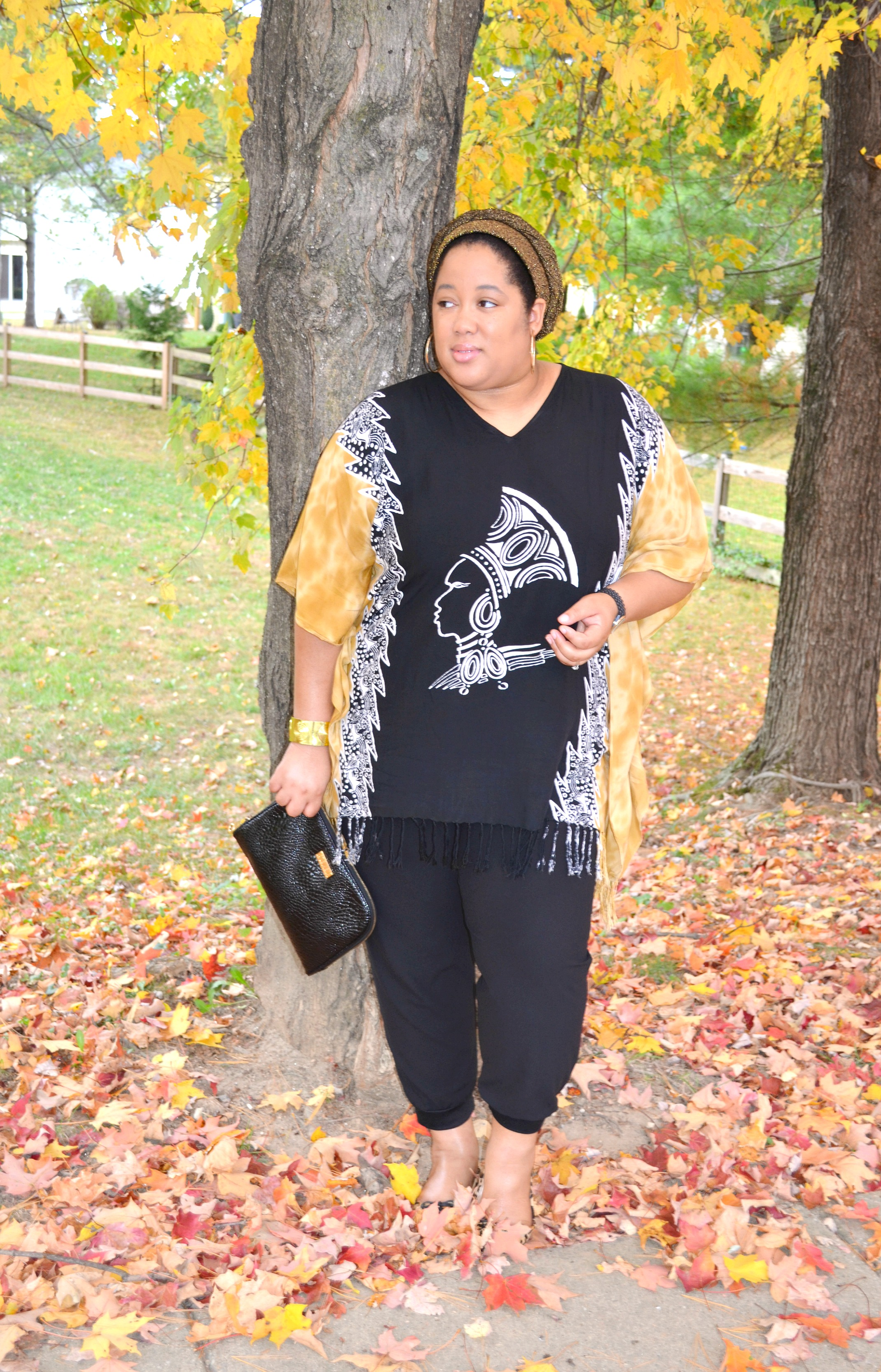 Tunic and Black Pants