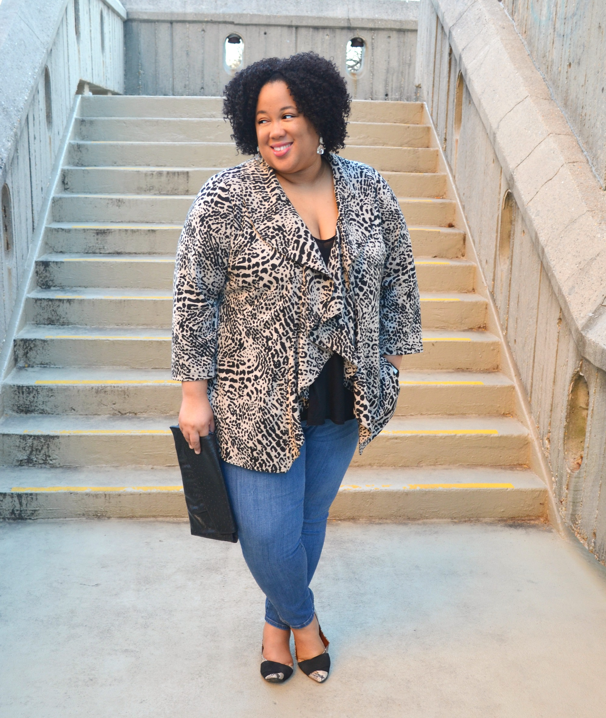 Denim and Animal Print OOTD