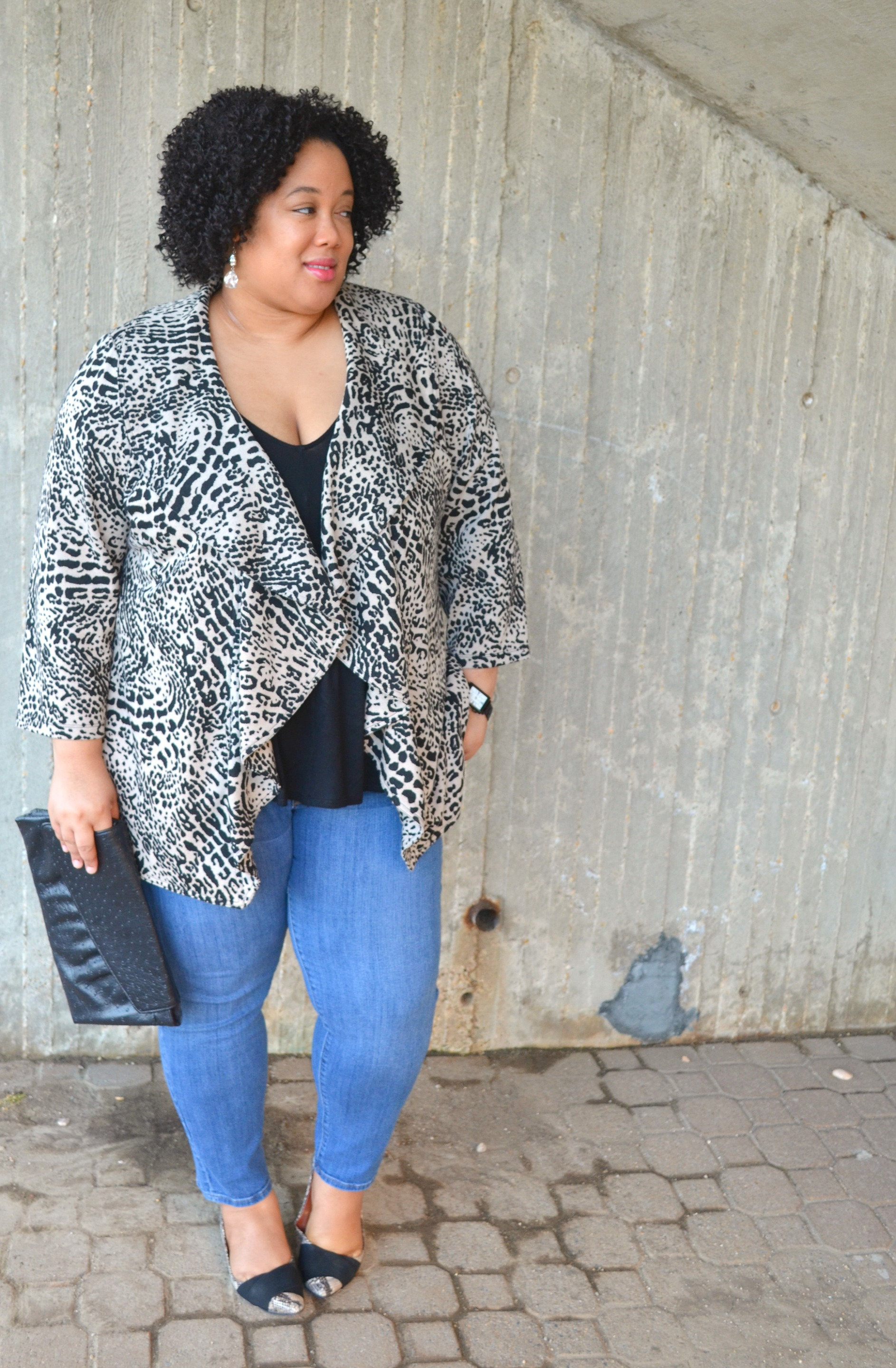 Denim and Animal Print - OOTD