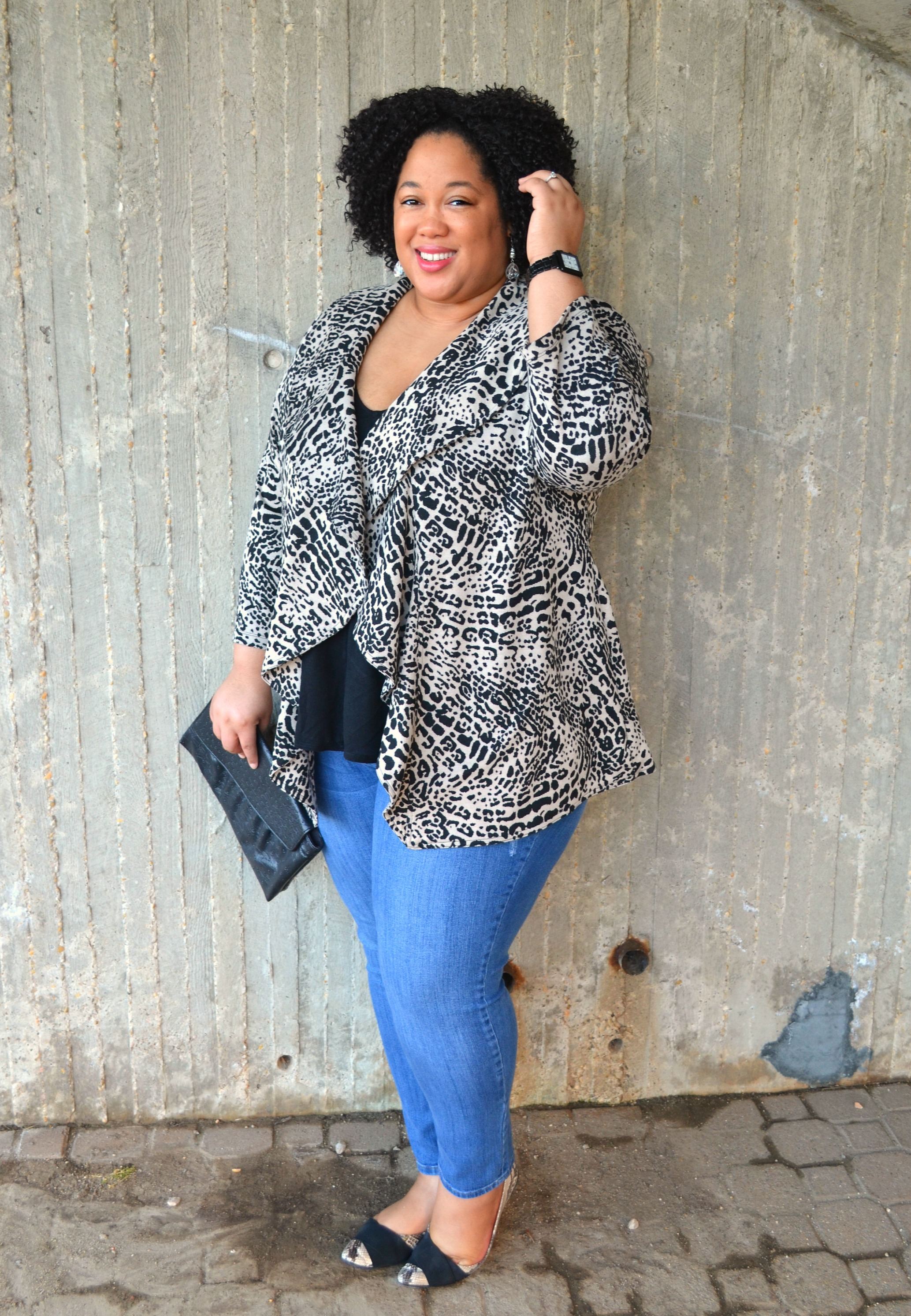 Denim and Animal Print