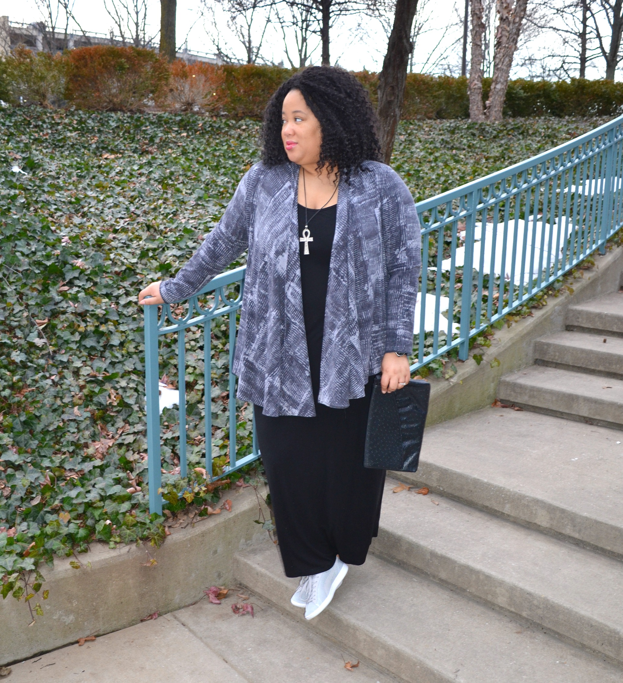 Maxi Dress and Sneakers OOTD