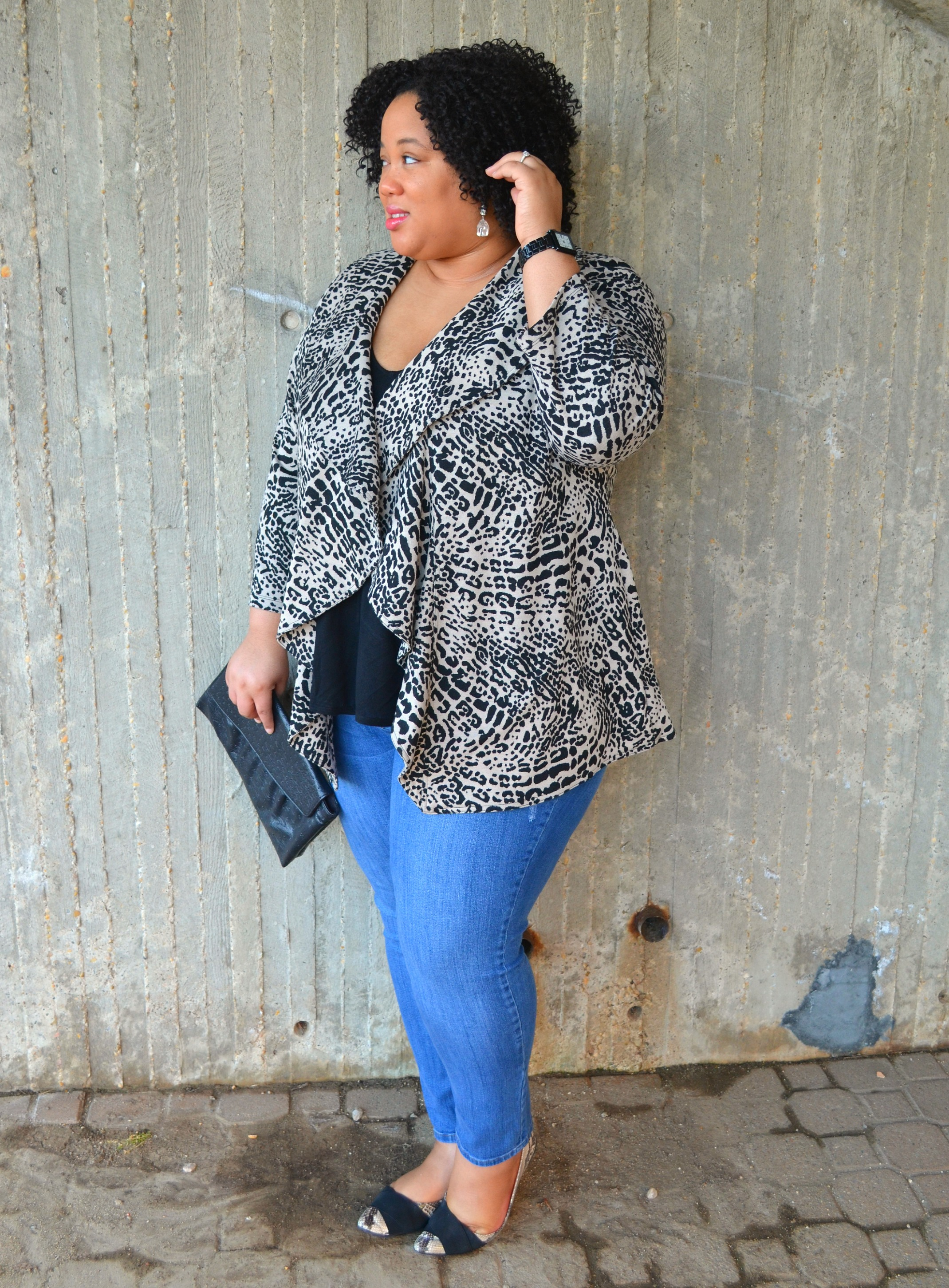 OOTD - Denim and Animal Print