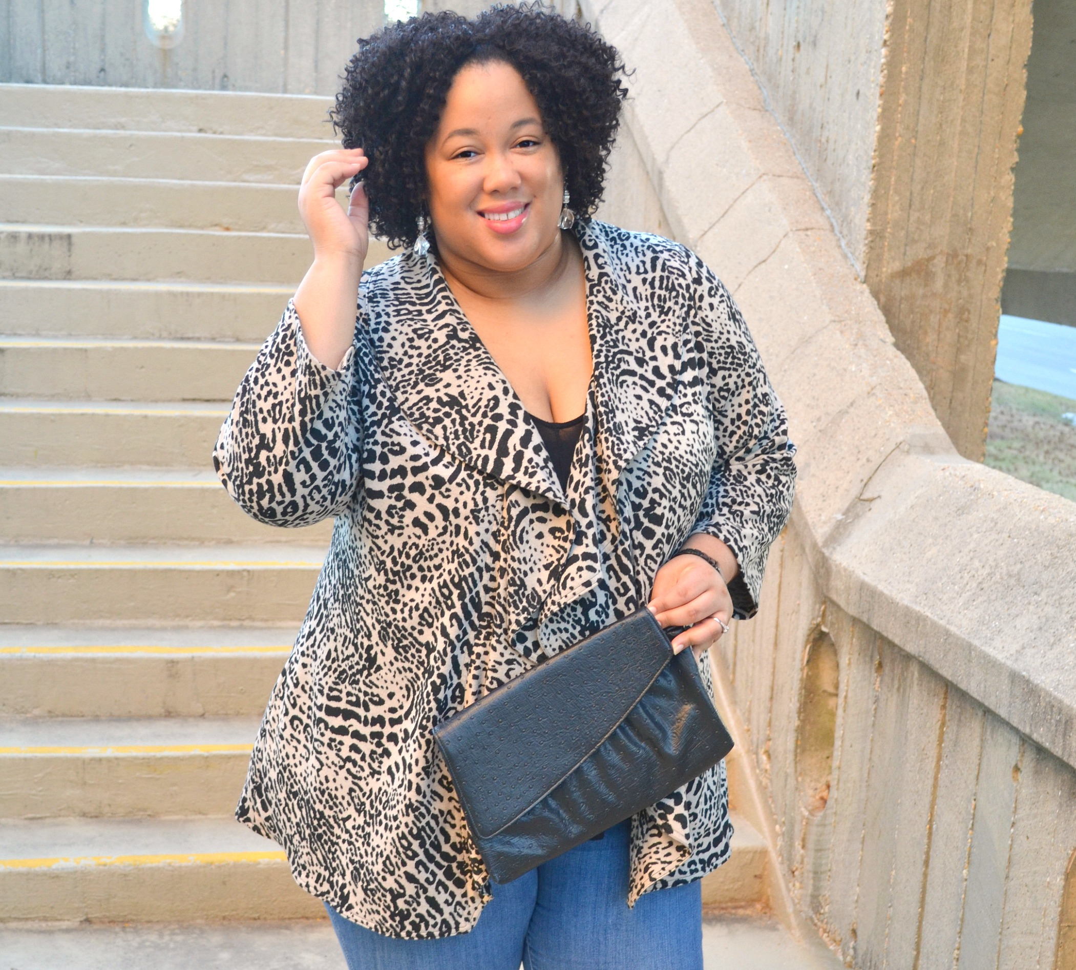 Outfit - Denim and Leopard Print