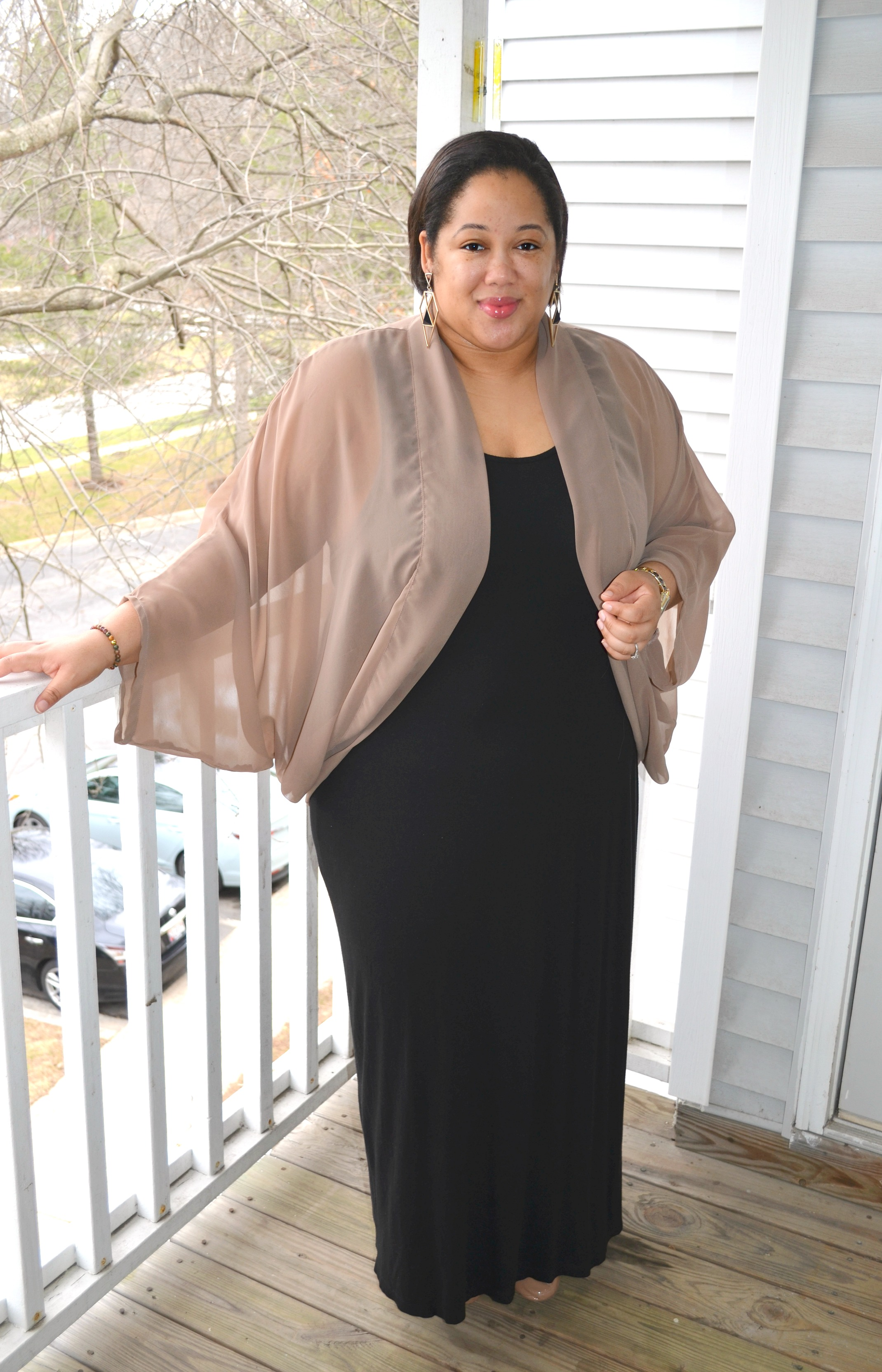 Maxi Dress and Cardigan - OOTD