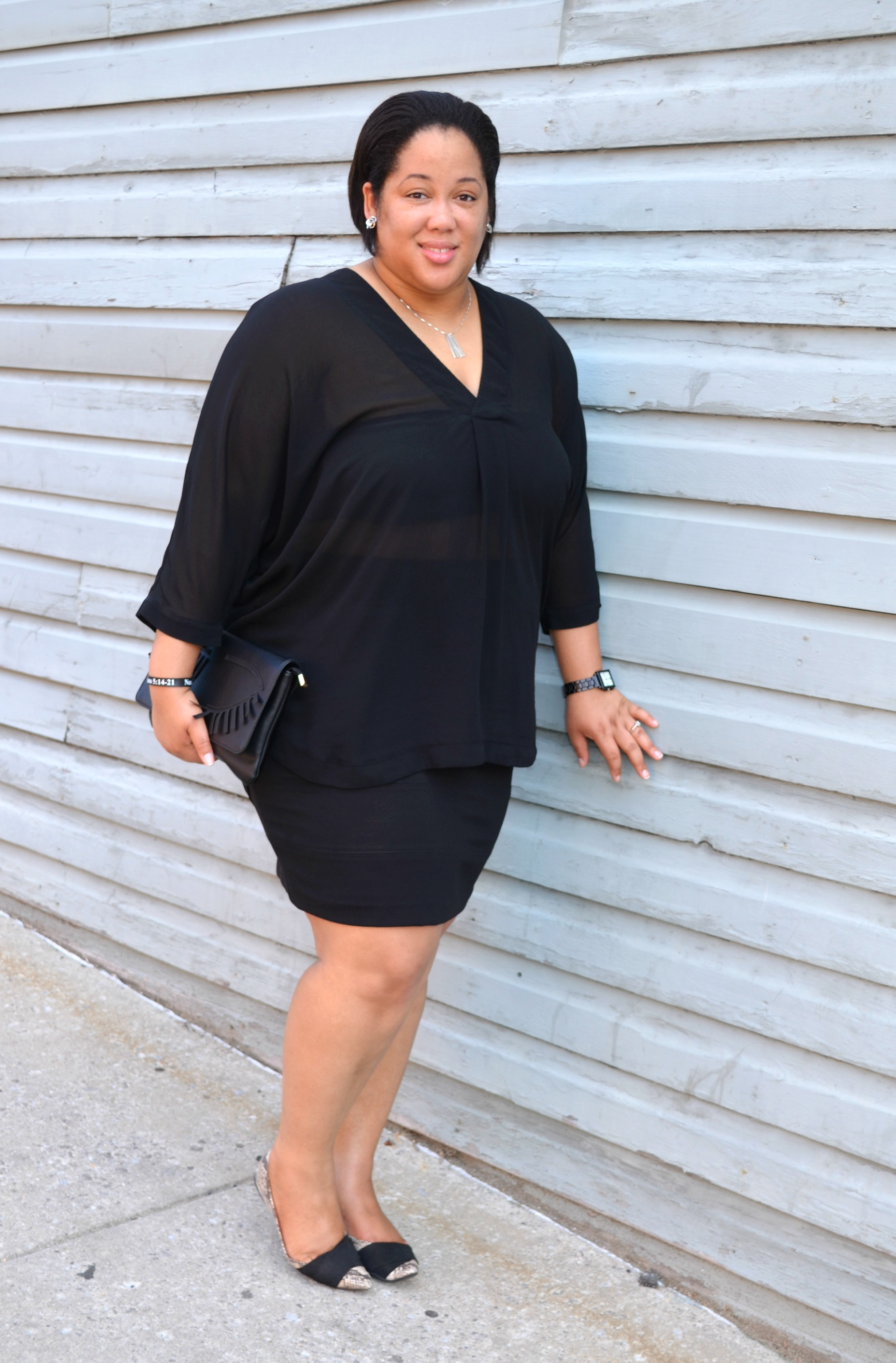 OOTD - Black Skirt and Black Blouse