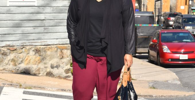 Personal Style | Wearing Burgundy and Black in Ellicott City