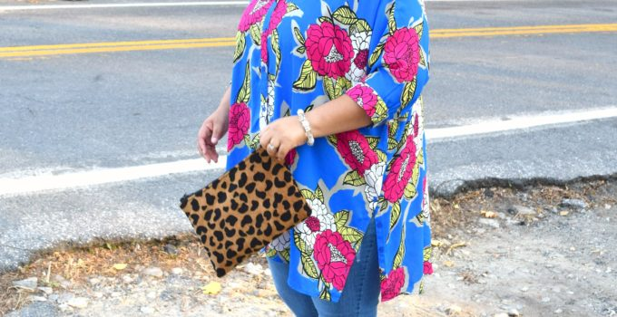 Personal Style | Melissa McCarthy Floral Tunic and Denim