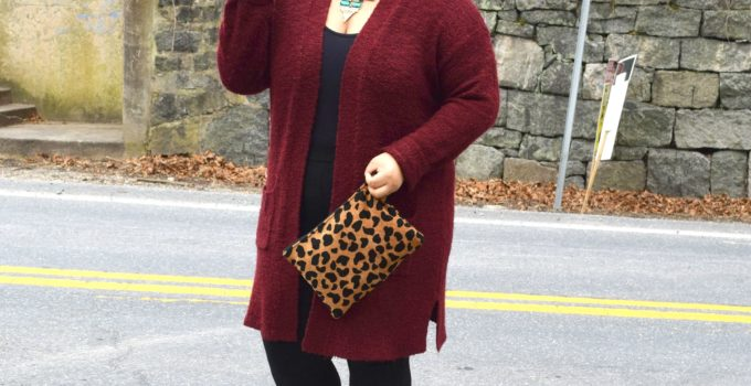 Personal Style   Burgandy and Leopard Print