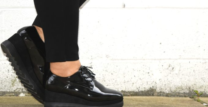 Personal Style | Styling Patent Leather Platform Oxfords