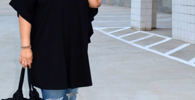 Personal Style | Tunic Dress and Distressed Denim + Tips on Stretching Your Wardrobe