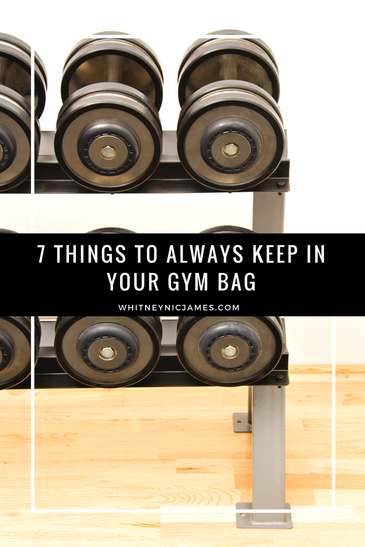 7 Things to Always Keep in Your Gym Bag