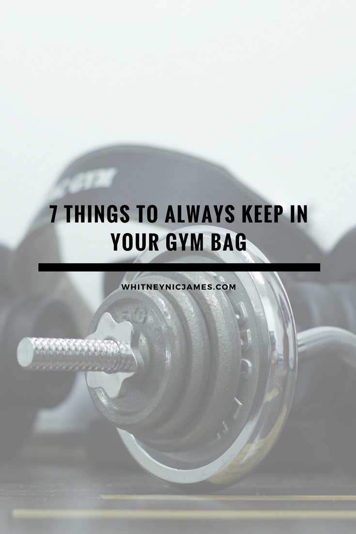 Things to Always Keep in Your Gym Bag