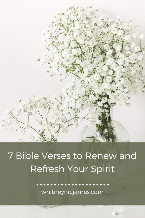 Bible Verses to Renew and Refresh